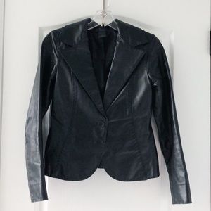 Frenchi black leather jacket from Nordstrom's